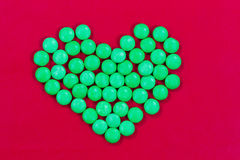 Candy Heart for Valentines Stock Images