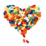 Candy heart shape. Colorful candies in a heart shape Royalty Free Stock Image