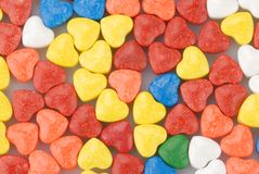 Candy hearts Stock Photo