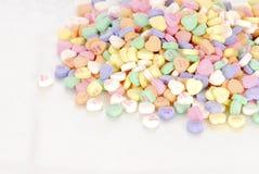Candy hearts stock photo