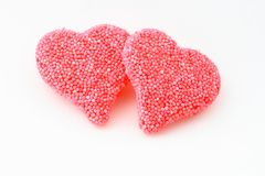 Candy hearts. On a white background stock images