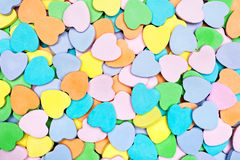 Candy Hearts. A pile of Valentines candy hearts stock photos