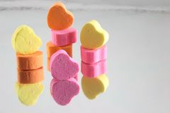 Candy Hearts 3 stock photo