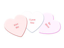 Candy Hearts. (Clipping Path Included vector illustration