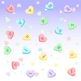 Candy hearts stock illustration