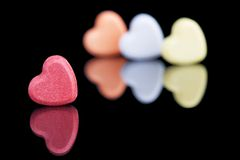 CAndy Hearts Stock Images