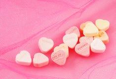Candy hearts stock photos