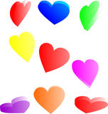 Candy hearts. Colorful candy hearts from various angles Stock Image