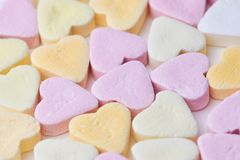 Candy hearts as background royalty free stock images