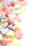 Candy hearts background Stock Photography