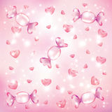 Candy hearts background Stock Image