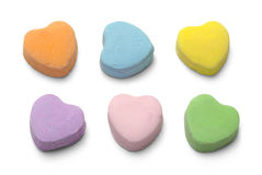 Candy Hearts. Blank Candy Valentiens Hearts Isolated on White Background Stock Photography