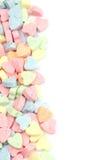 Candy hearts border Stock Photo