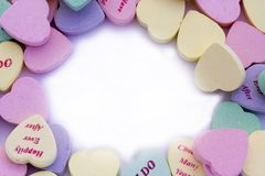 Candy Hearts Border royalty free stock images