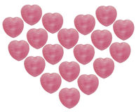 Candy hearts. Close up many candy hearts royalty free stock photo