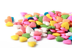 Candy hearts Stock Image
