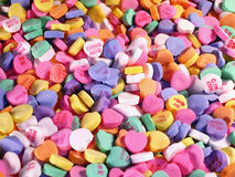 Candy Hearts-Field Stock Photos