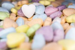 Candy, love hart colorful closeup with background royalty free stock images