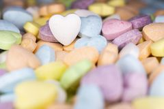Candy, love hart colorful closeup with background royalty free stock photos