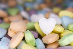 Candy, love hart colorful closeup with background royalty free stock image