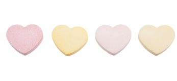 Candy hearts isolated Stock Image