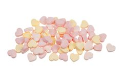 Candy Hearts Isolated Royalty Free Stock Image