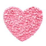 Candy Hearts isolated on white. Valentines Day concept.  royalty free stock photos