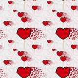 Candy hearts and line pattern vector. Seamless vector pattern with lollipops. Wrapping textile fabric wallpaper design. royalty free illustration