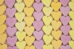 Candy Hearts Lines Stock Images