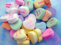 Candy Hearts Pile Royalty Free Stock Photo