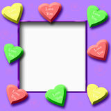 Candy hearts scrapbook Royalty Free Stock Photography