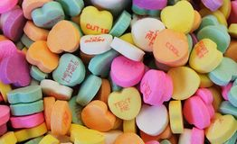 Candy hearts Royalty Free Stock Image