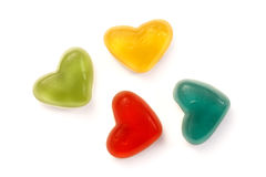 Candy hearts. On white background stock image