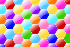 Candy Hexagons Wallpaper Stock Image