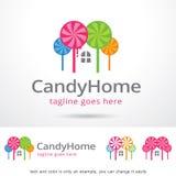 Candy Home Logo Template Design Vector Royalty Free Stock Photos