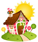 Candy House Royalty Free Stock Photos