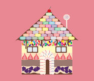 Candy House Royalty Free Stock Photography