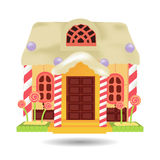 Candy House, sweet food vector Stock Photos