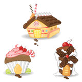 Candy houses collection set 1 Royalty Free Stock Photo