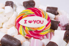Candy - I love you royalty free stock photos