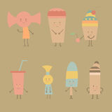 Candy and ice cream Royalty Free Stock Photo