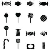 Candy icon set. The candy of icon set Royalty Free Stock Image