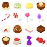 Candy icon set, isometric style royalty free illustration