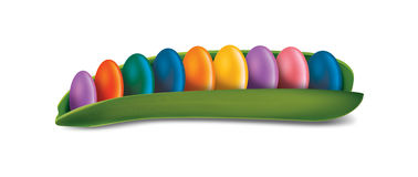 Candy inside peapod Royalty Free Stock Image