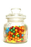Candy Jar. A variety of tasty candies in cliche candy jar stock photography