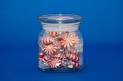 Candy Jar. Peppermint candy in a glass jar Royalty Free Stock Photography