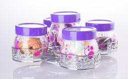 Candy jar on a background Royalty Free Stock Photo