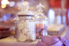 Candy jar with biscuits Stock Image