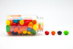 Candy jar. Flavors of fruits and colors candy jar royalty free stock photography