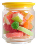 Candy jar. Isolated Stock Image